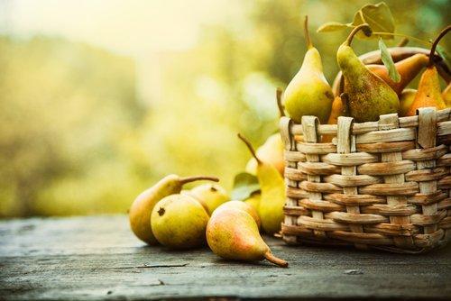 cesta de peras