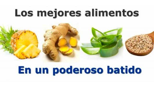 , Batido de jengibre, avena, piña y aloe vera, para eliminar barriga y no enfermarte nunca jamás!, Alimenta y Cura