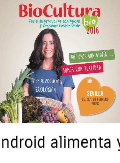 , Biocultura Sevilla, la feria ecológica, Alimenta y Cura