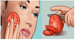 , Frote una rodaja fresca de tomate en la cara durante 3 segundos, aquí está el increíble efecto!, Alimenta y Cura