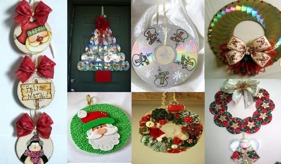 Asombrosas manualidades navide as hechas con cds - Como hacer decoracion navidena para el hogar ...