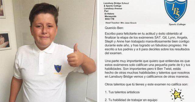, La motivadora carta de una profesora para un niño con autismo que suspendió sus exámenes, Alimenta y Cura