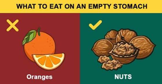 , 15 alimentos que se deben, y no se deben comer con el estómago vacío, Alimenta y Cura