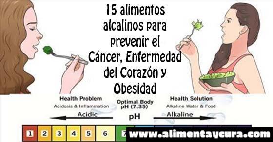 , Los 15 alimentos alcalinos que pueden prevenir el cáncer, las enfermedades del corazón y la obesidad, Alimenta y Cura