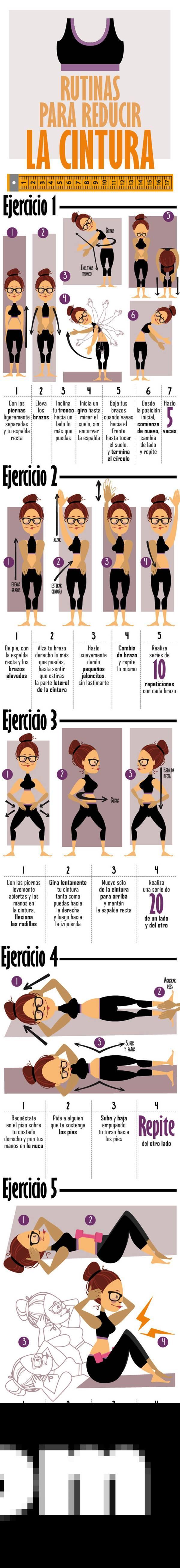 , 5 Ejercicios para reducir la cintura fácilmente, Alimenta y Cura