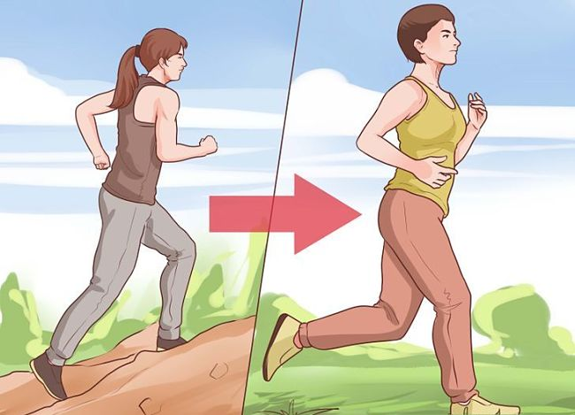 Mujer corriendo para quemar calorías