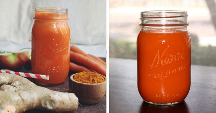 , Batido para dar energía de zanahoria y jengibre con canela y nuez, Alimenta y Cura
