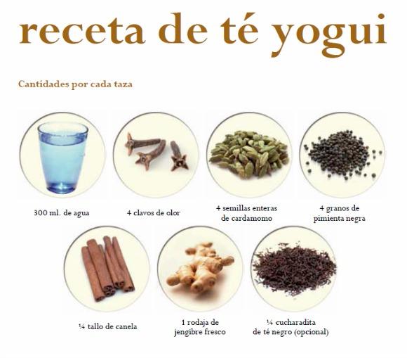 , Te yogui, receta, Alimenta y Cura