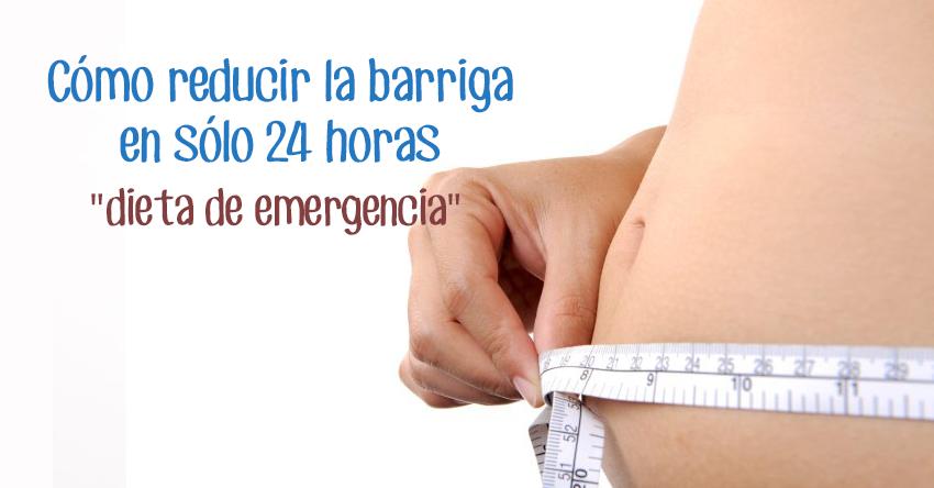 Descubre como quitar casi toda la grasa del vientre en una sola noche, con esta dieta de emergencia