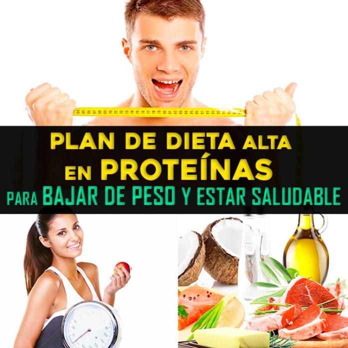 , Plan De Dieta Alta En Proteínas Para Bajar De Peso Y Estar Saludable, Alimenta y Cura