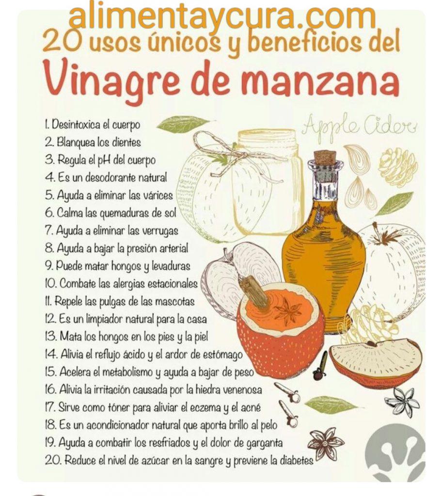 , Usos del vinagre de manzana, Alimenta y Cura, Alimenta y Cura