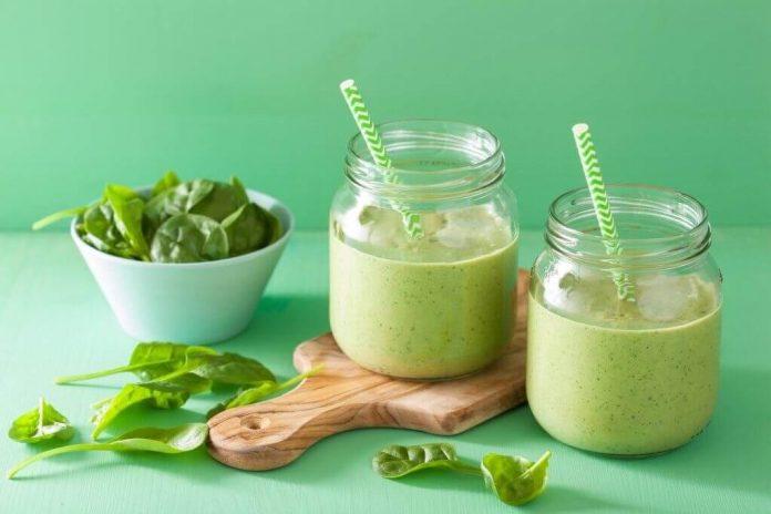 , Batido verde con #espinaca, leche de #coco y #uvas para reemplazar el desayuno, Alimenta y Cura, Alimenta y Cura