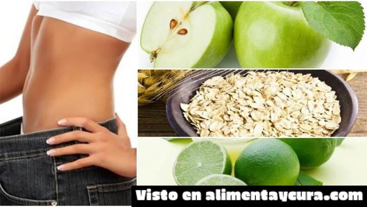, Conoce este poderoso batido para bajar de peso en una sola semana, a base de avena, manzana y limón. ¡Es increíble!, Alimenta y Cura